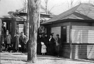 Trolley stop at Johnson Park