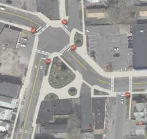 Closing one block to make a simpler intersection