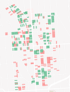 Multifamily housing that ReZone would make illegal shown in red